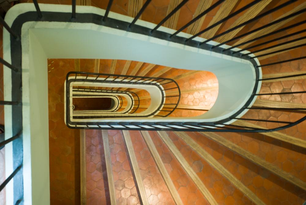 Un escalier à l'Hôtel de Caumont (Aix-en-Provence)