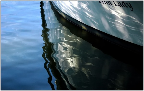 reflection, boat