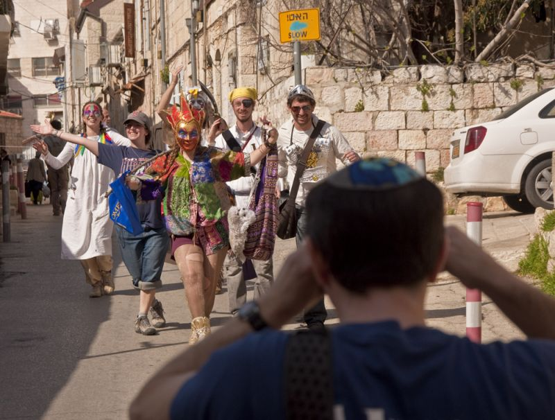 Purim: taking it to the streets.