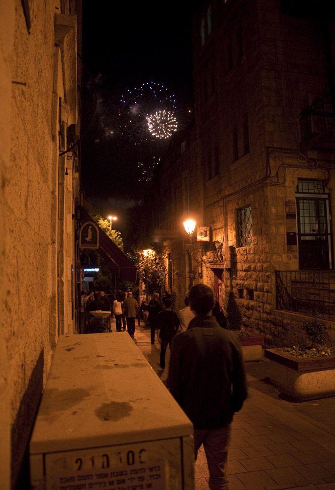 Independence Day Fireworks, Jerusalem, Israel
