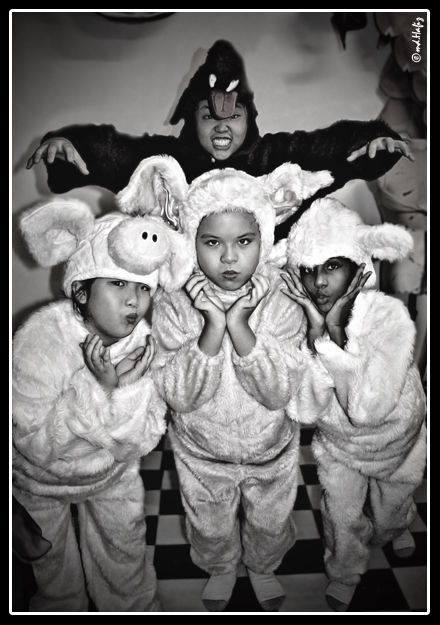 3 Little Pigs & The Big Bad Wolf by md.Hafiz