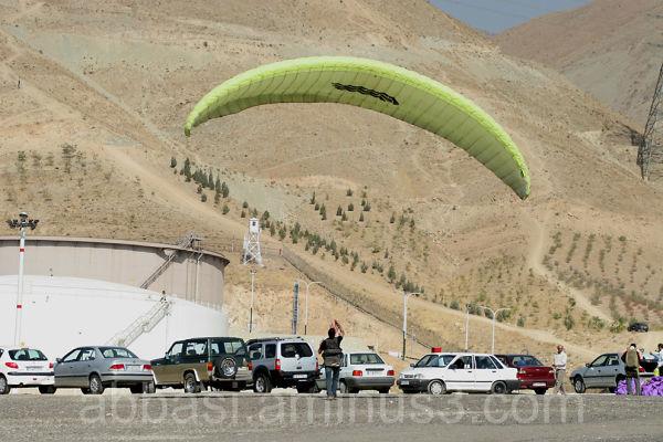 Station of Shahran' Paraglider