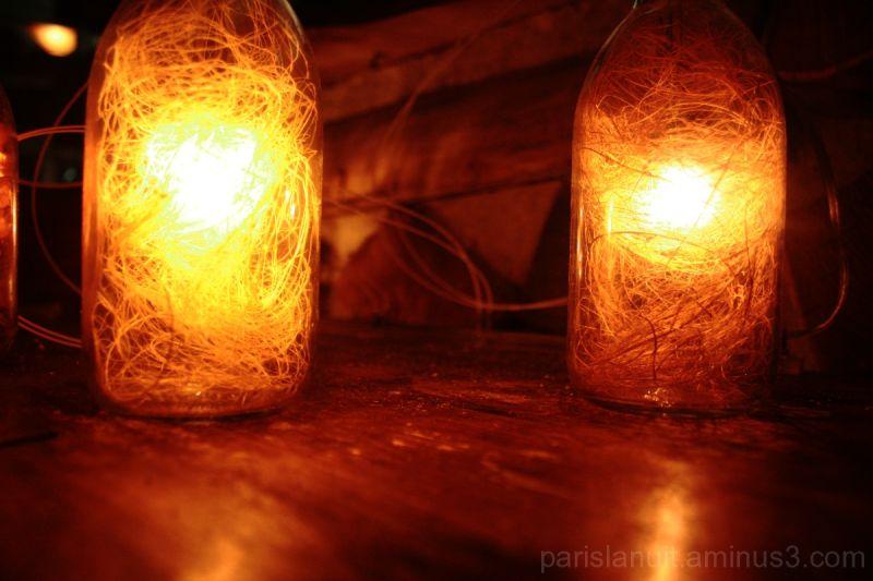 Lumière en bouteilles