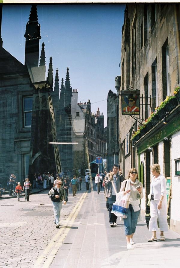 Scottish golden mile double exposure