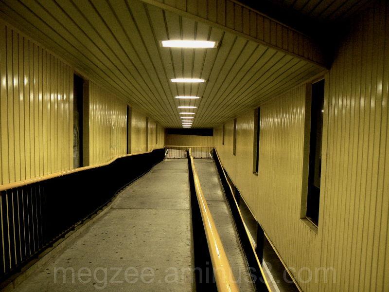 Train station walkway.