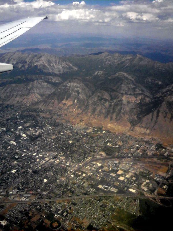 Utah valley, bird's eye view