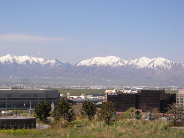 From roof of Salt Lake City conference center