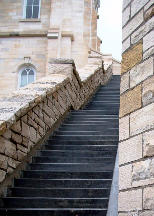 Stairway outside of Manti Utah temple