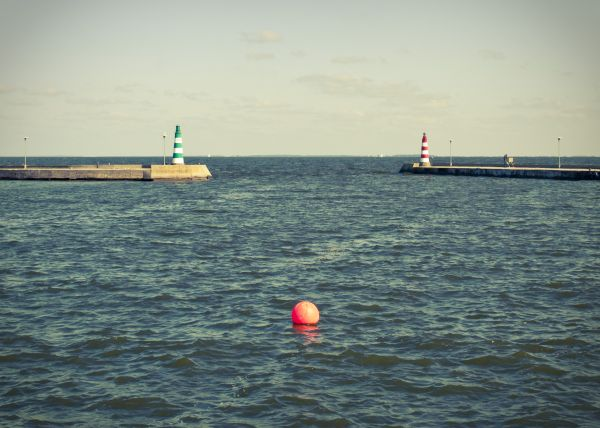 green white stripes lighthouse