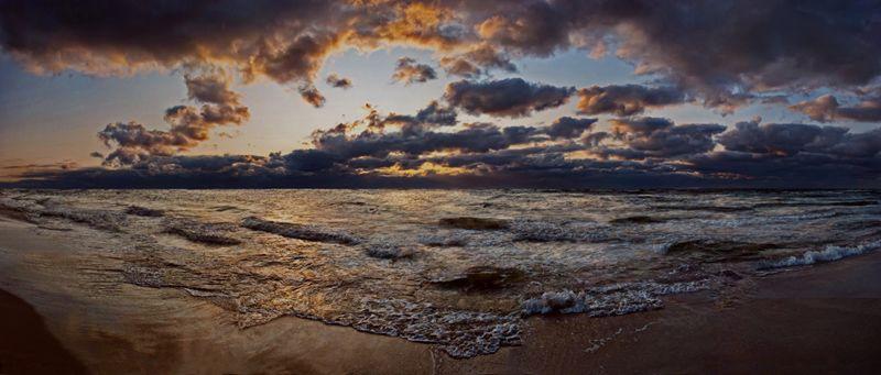 dusk over sea