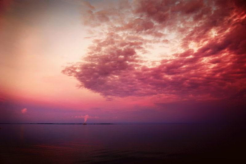 red sky dusk
