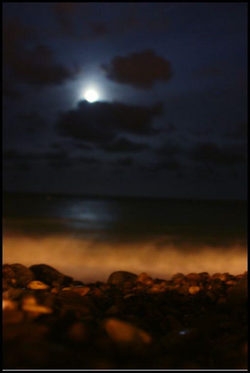 Brighton Beach at Midnight