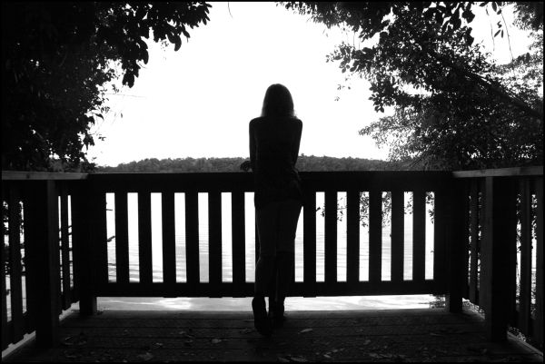 Girl by Crater Lake, Atherton Tablelands