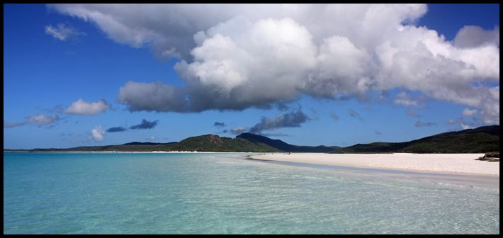 Whitehaven beach from the Water, Australia