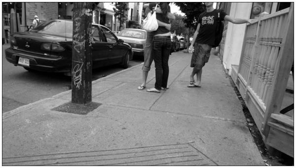 Rue St-Denis, at rue Roy.