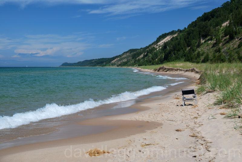 Lk Michigan beach at Green Point Dunes, Frankfort