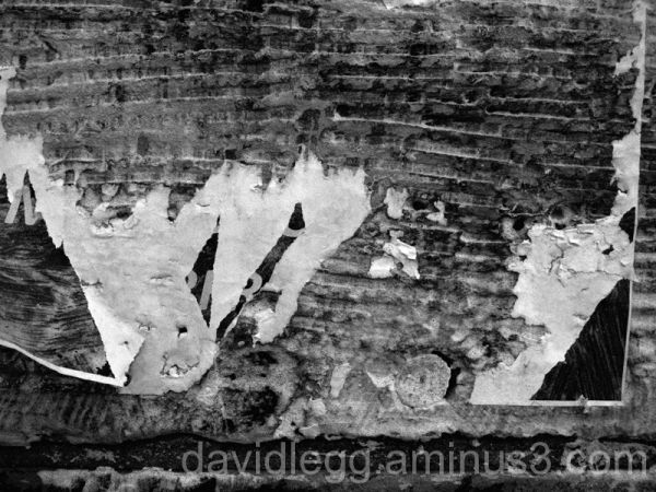 Torn Paper on Stone Bridge