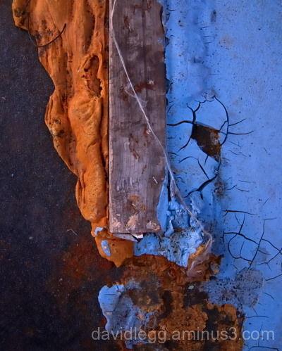 Blue Paint Spill