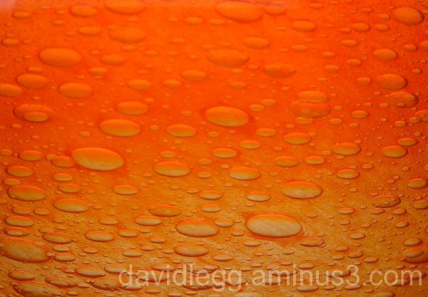 Orange Glass Detail