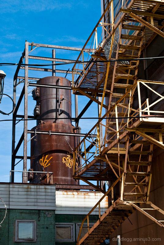 Plum Street Industrial View, Detroit