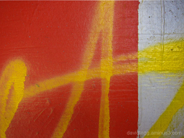 Yellow on Red and Gray