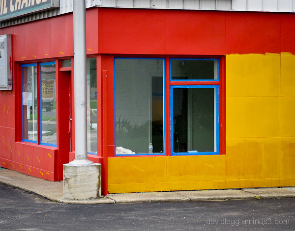 Red and Yellow with Blue Tape