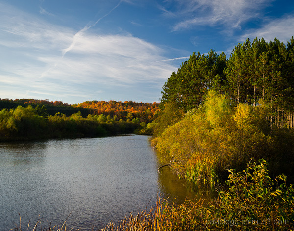 Manistee River in Autumn