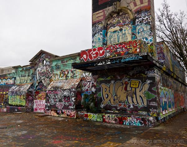 Graffiti-covered Building, Seattle