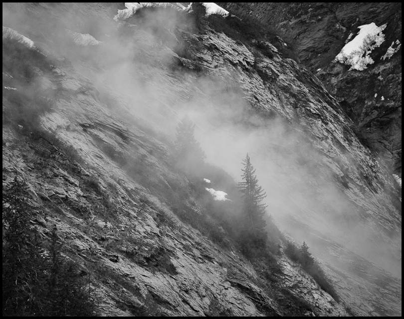 Mountainside Mist (Monochrome)