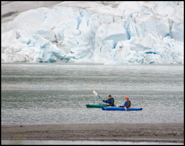 Two Kayakers, Mendenhall Glacier