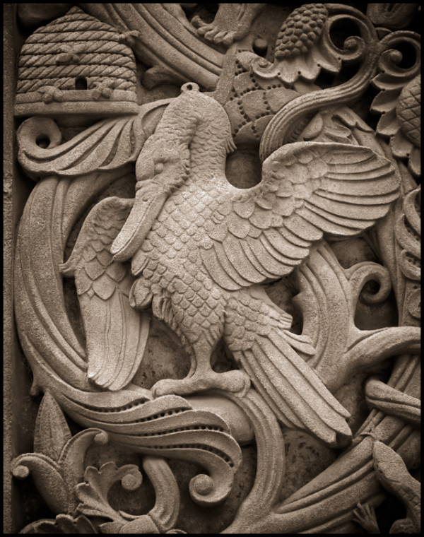 Allegorical Detail, Detroit: Pelican and Bees