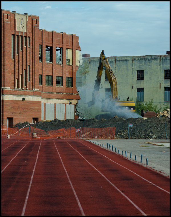 Redford HS Demolition from Track 9-25-12