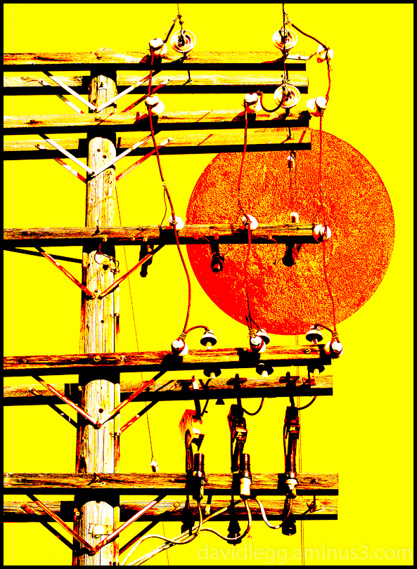 Moonrise: Utility Pole
