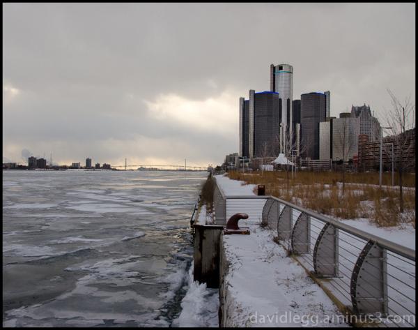 Detroit River Walk, Frigid Winter
