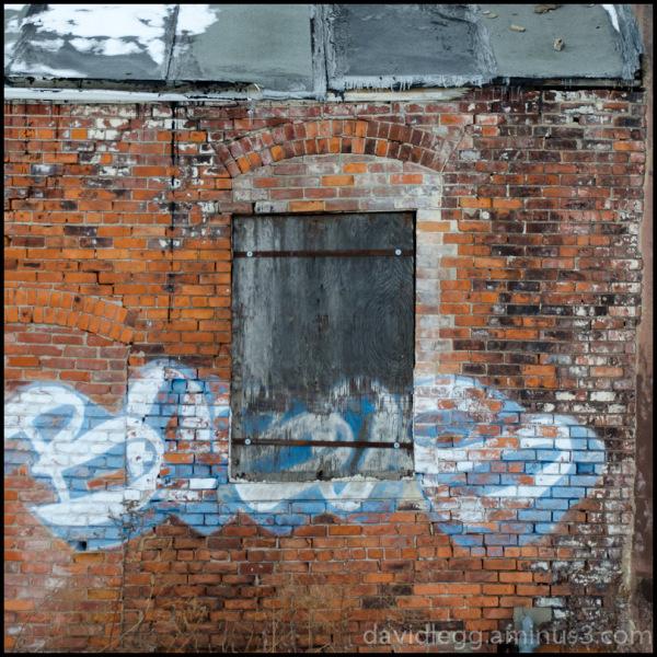 Boarded Window in Alley