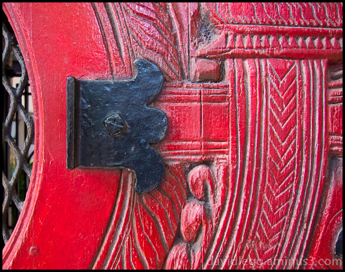 Carved Door Detail, Old Town, Chicago