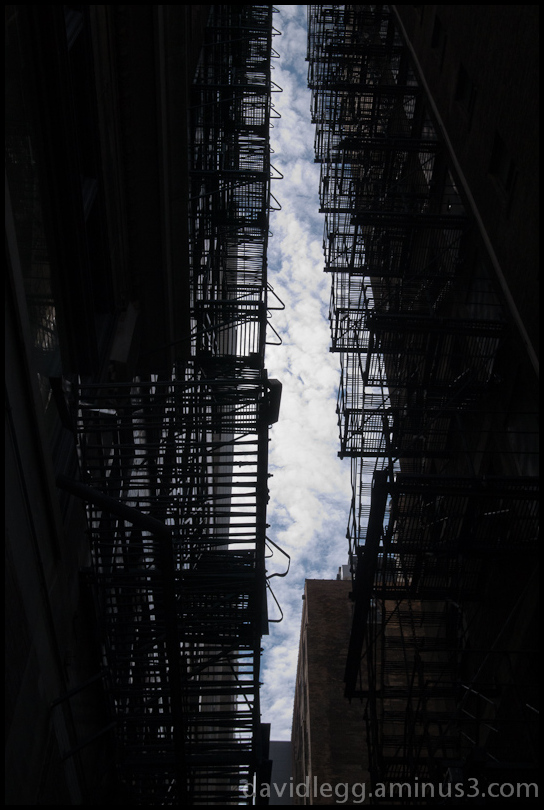 Fire Escapes, Alley Detail, Chicago