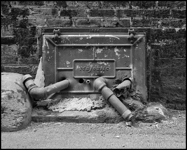 Oil Pipes and Coal Chute, Alley Detail, Chicago