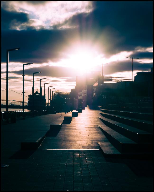 Sunset, Detroit RiverWalk