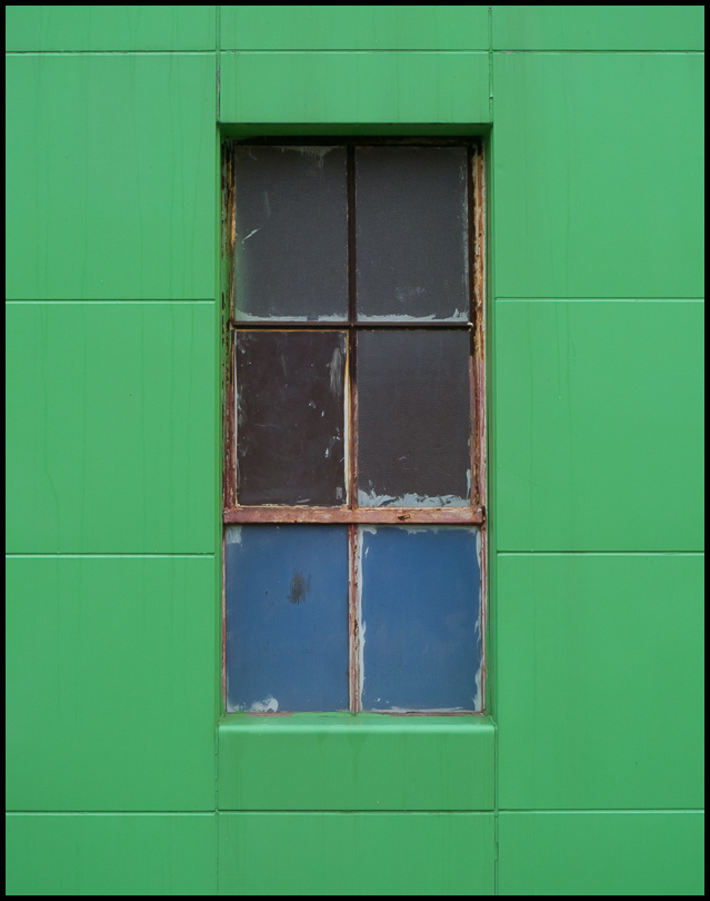 Window in Green Wall