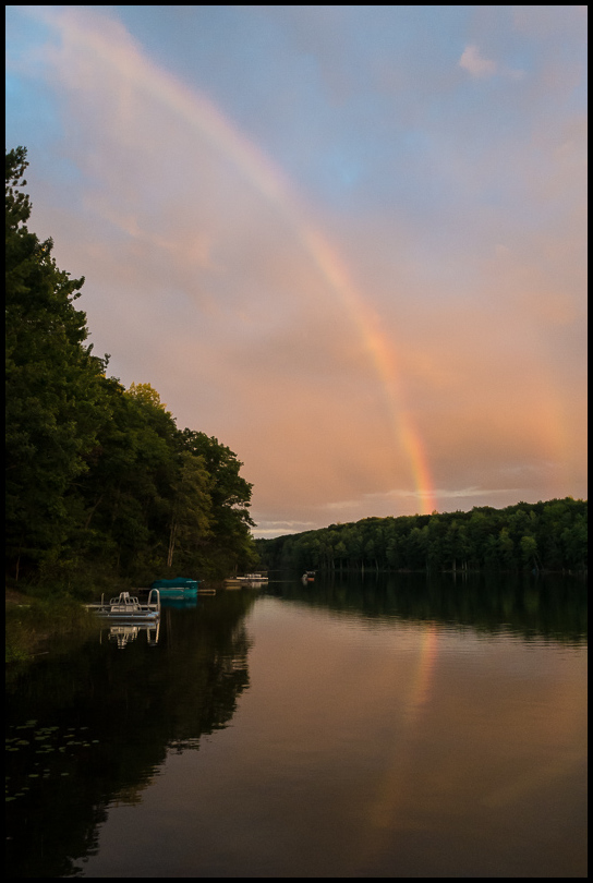 Rainbow over Turtle Lake