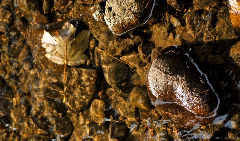 kő, lebél, és víz