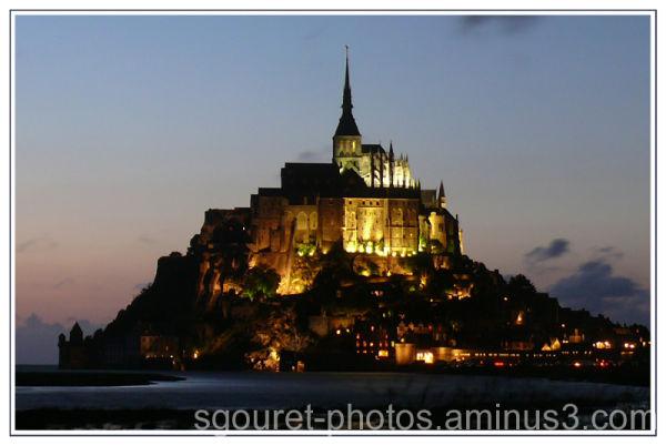 Le Mont Saint-Michel un soir de grande marée