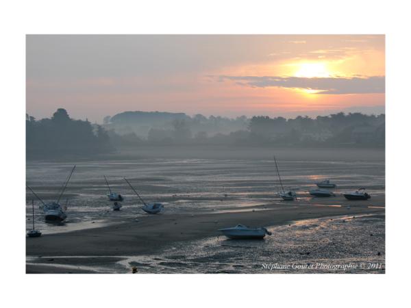 Havre de Rothéneuf au lever du jour...