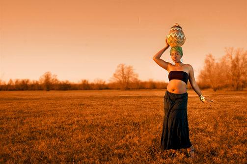 African-inspired model shoot