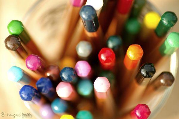 Crayons de couleurs.