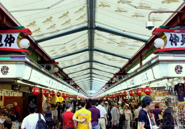 Shopping area at Asakusa