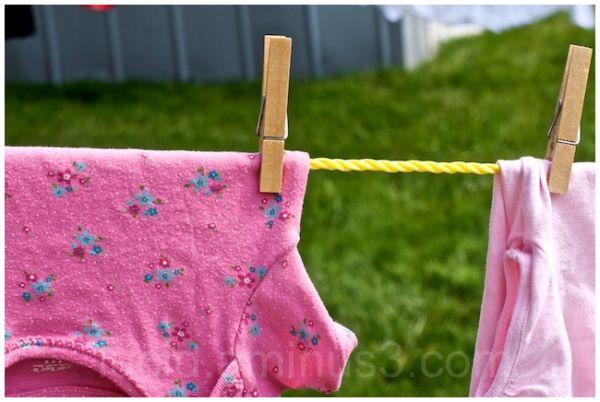Pink Shirts on a Clothesline