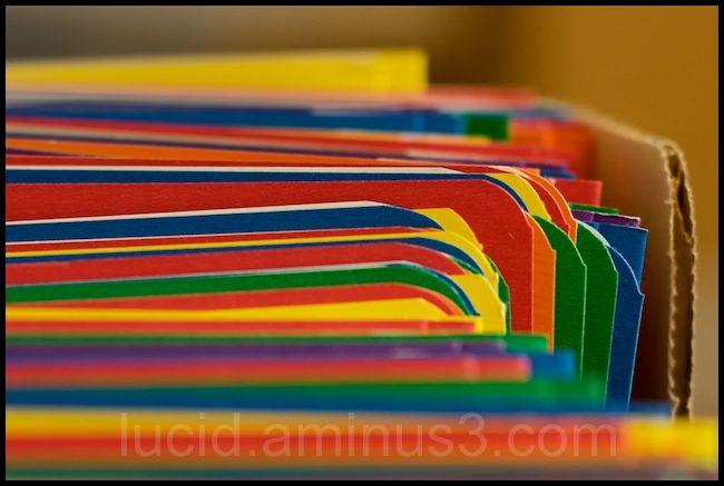 Rainbow of Duotangs