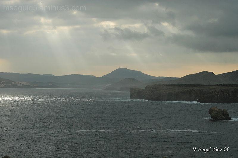 La montaña del  Toro desde caballería- Menorca